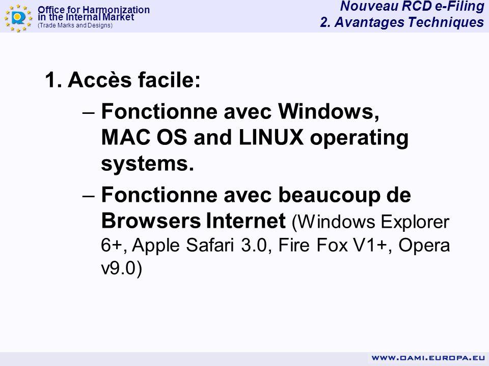 Nouveau RCD e-Filing 2. Avantages Techniques