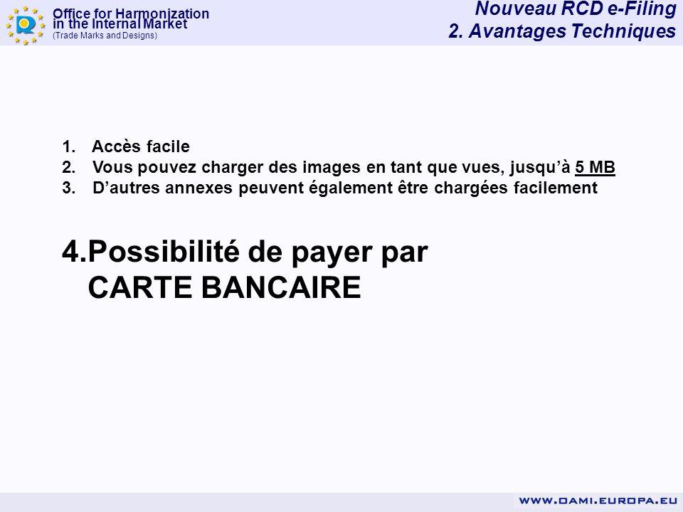 4. Possibilité de payer par CARTE BANCAIRE