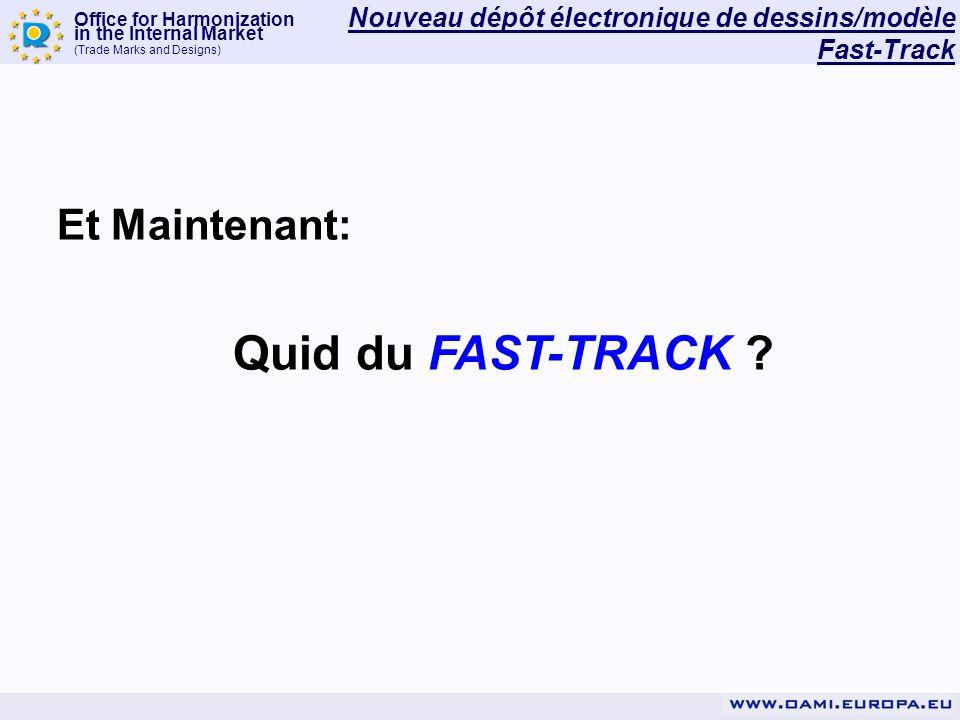 Nouveau dépôt électronique de dessins/modèle Fast-Track