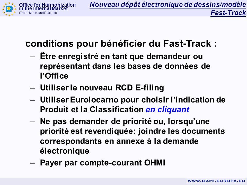 conditions pour bénéficier du Fast-Track :