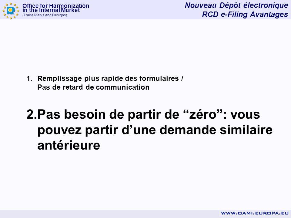 Nouveau Dépôt électronique RCD e-Filing Avantages