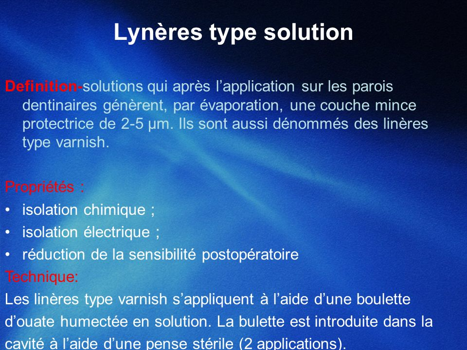 Lynères type solution