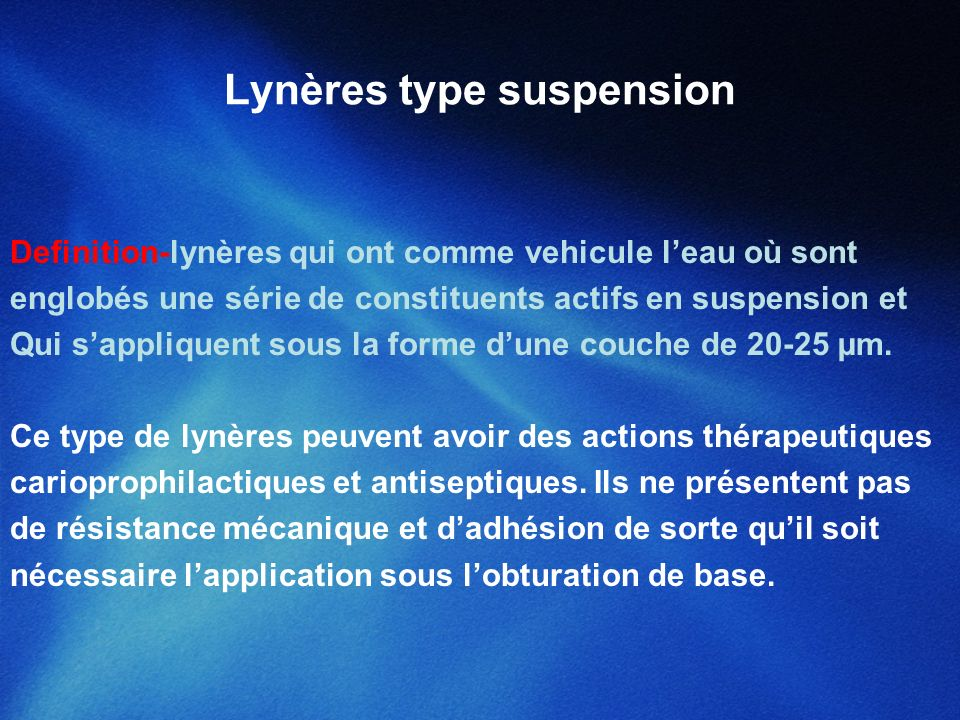 Lynères type suspension