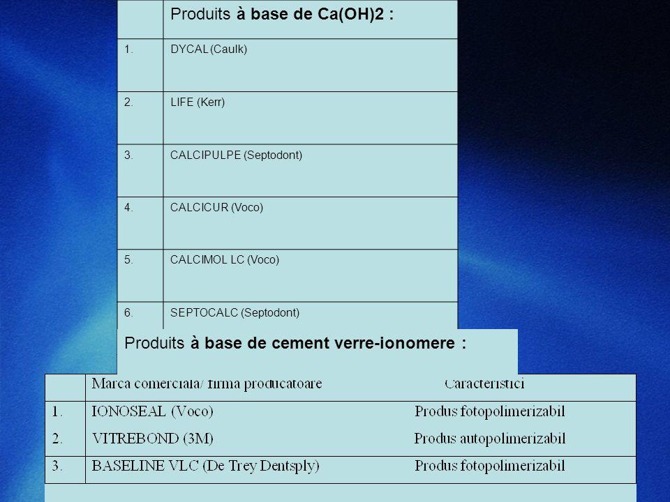 Produits à base de Ca(OH)2 :
