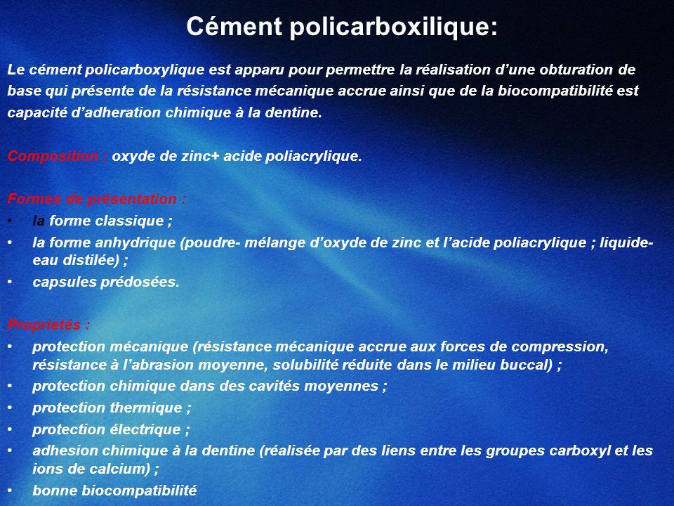 Cément policarboxilique: