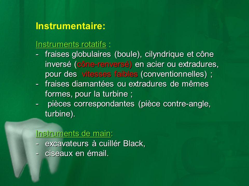 Instrumentaire: Instruments rotatifs :