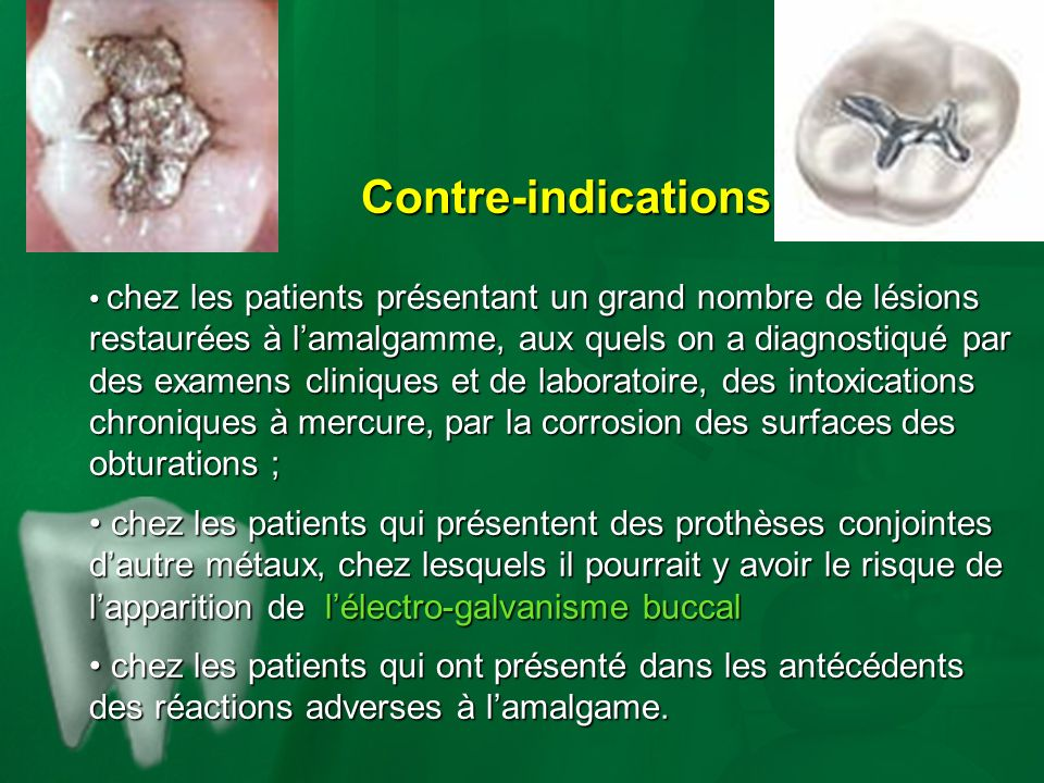 Contre-indications