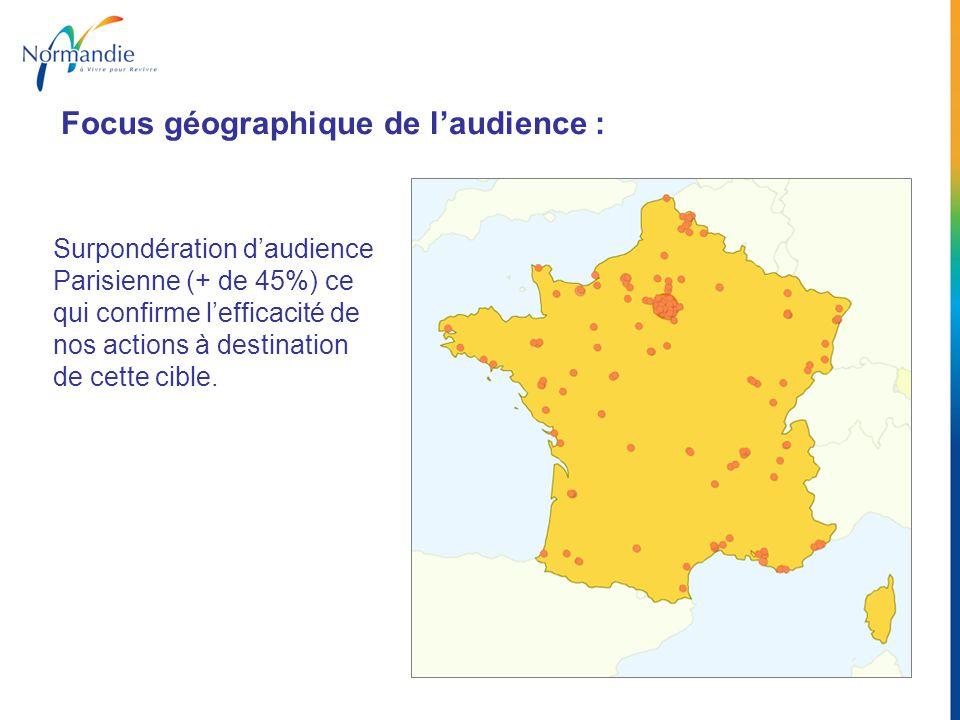 Focus géographique de l'audience :