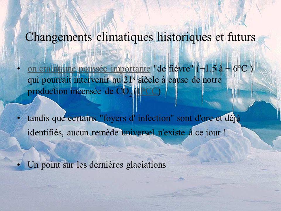 Changements climatiques historiques et futurs