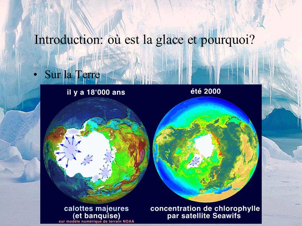 Introduction: où est la glace et pourquoi