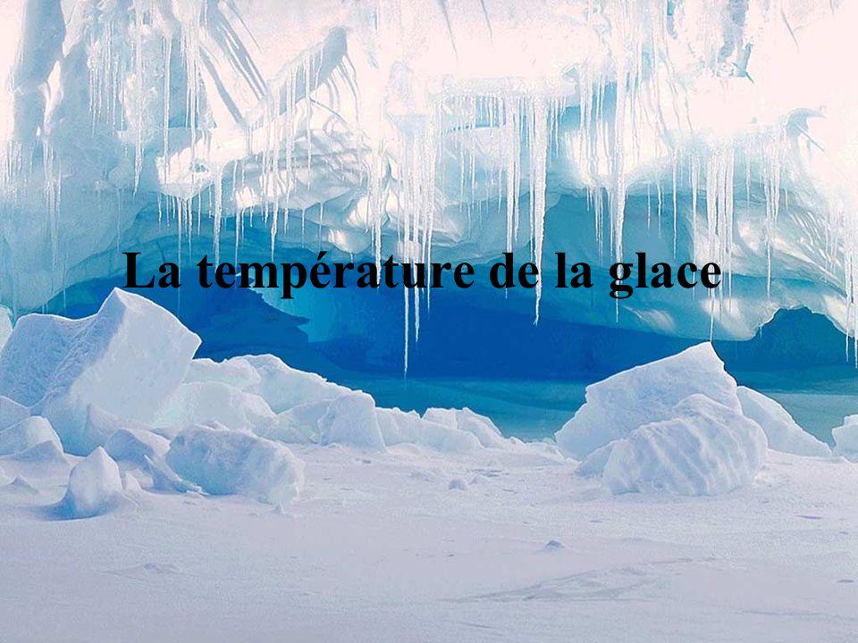 La température de la glace