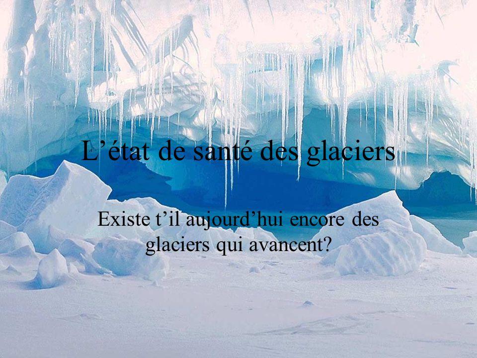 L'état de santé des glaciers