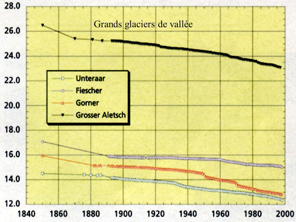 Grands glaciers de vallée