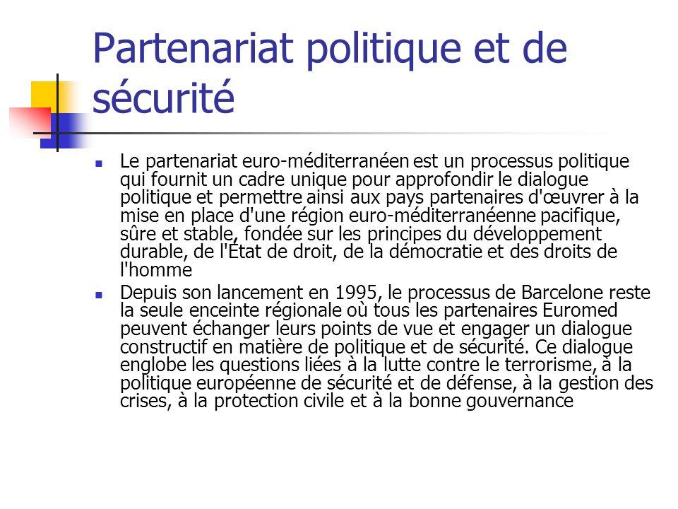 Partenariat politique et de sécurité