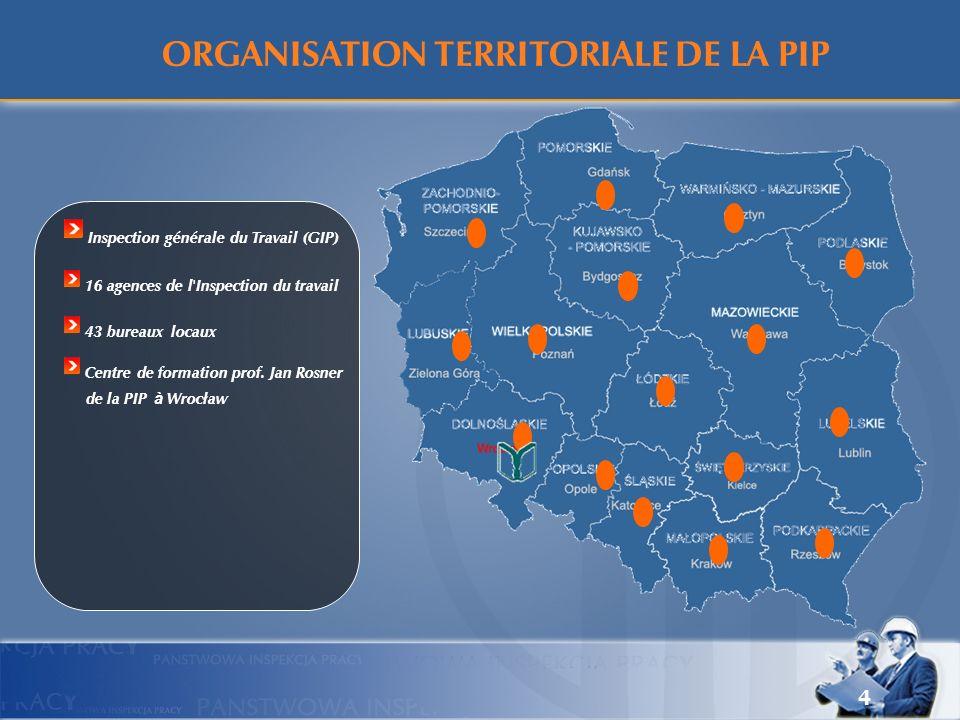 ORGANISATION TERRITORIALE DE LA PIP