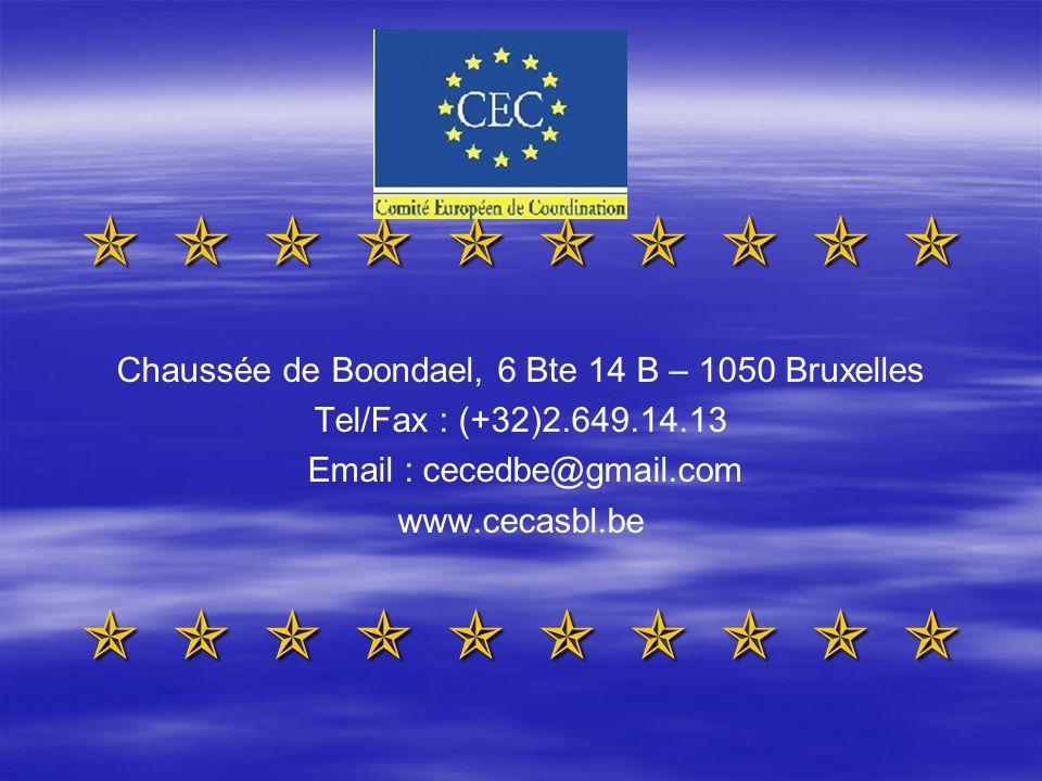 Chaussée de Boondael, 6 Bte 14 B – 1050 Bruxelles