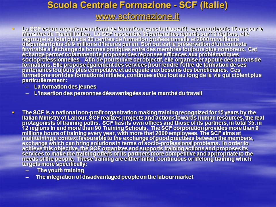 Scuola Centrale Formazione - SCF (Italie) www.scformazione.it