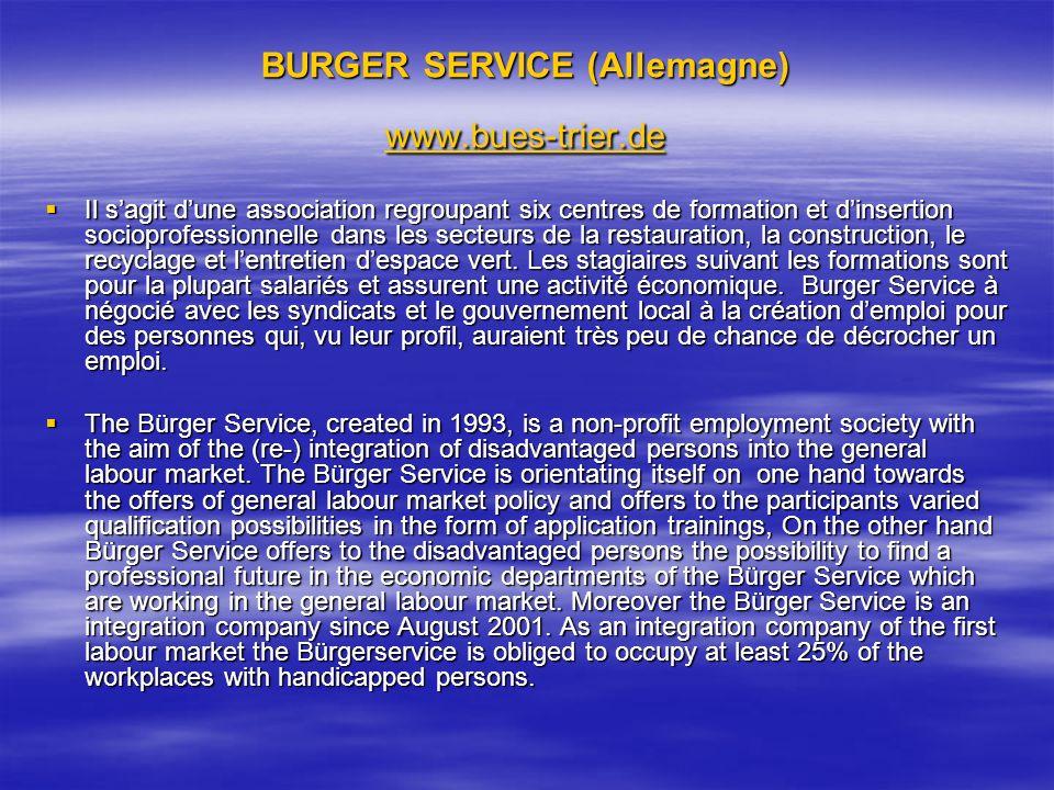 BURGER SERVICE (Allemagne) www.bues-trier.de