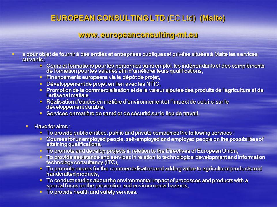 EUROPEAN CONSULTING LTD (EC Ltd) (Malte) www. europeanconsulting-mt.eu