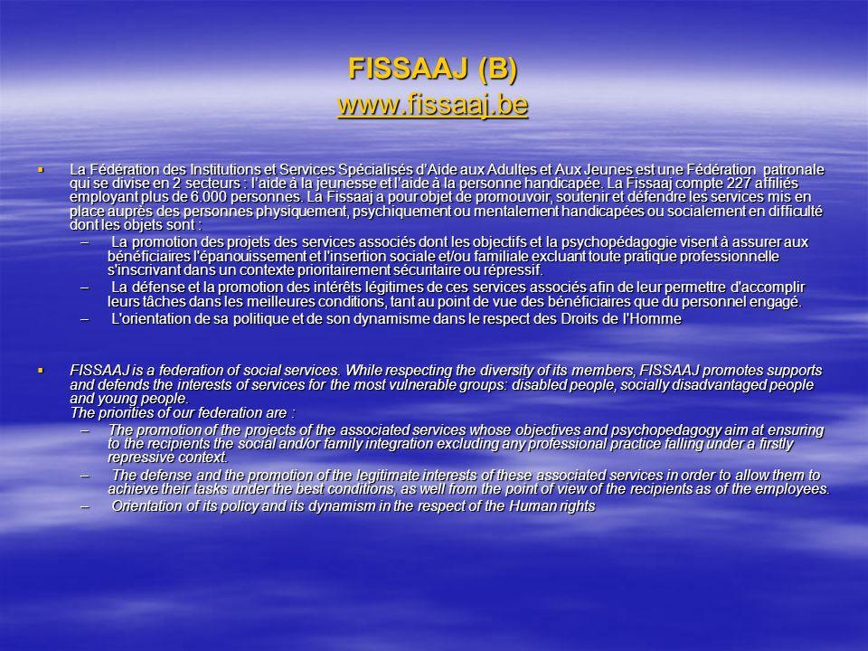 FISSAAJ (B) www.fissaaj.be
