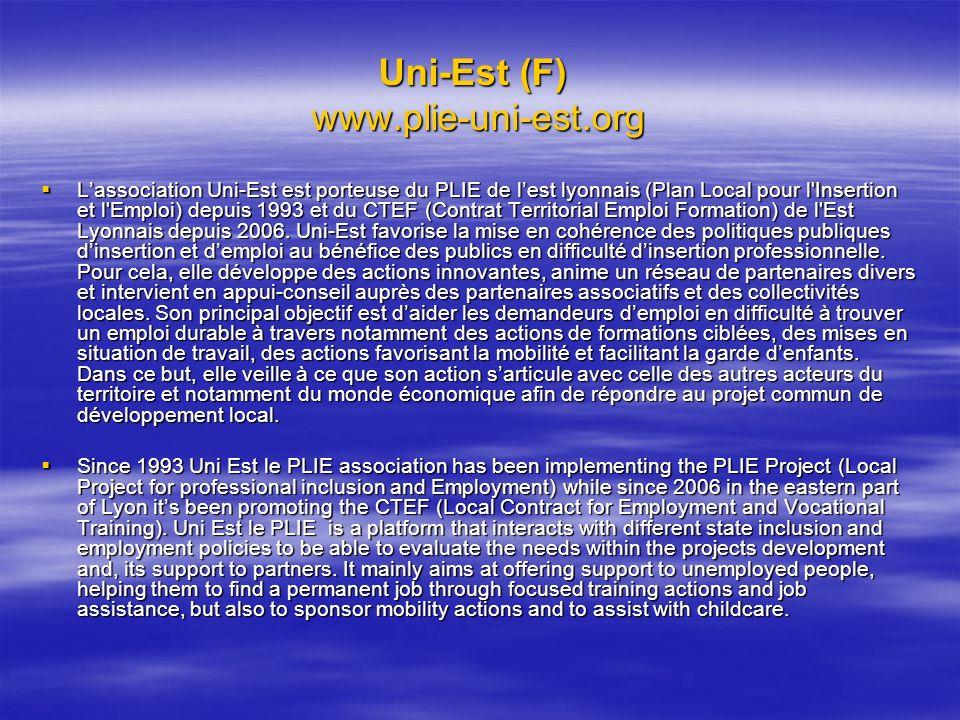 Uni-Est (F) www.plie-uni-est.org