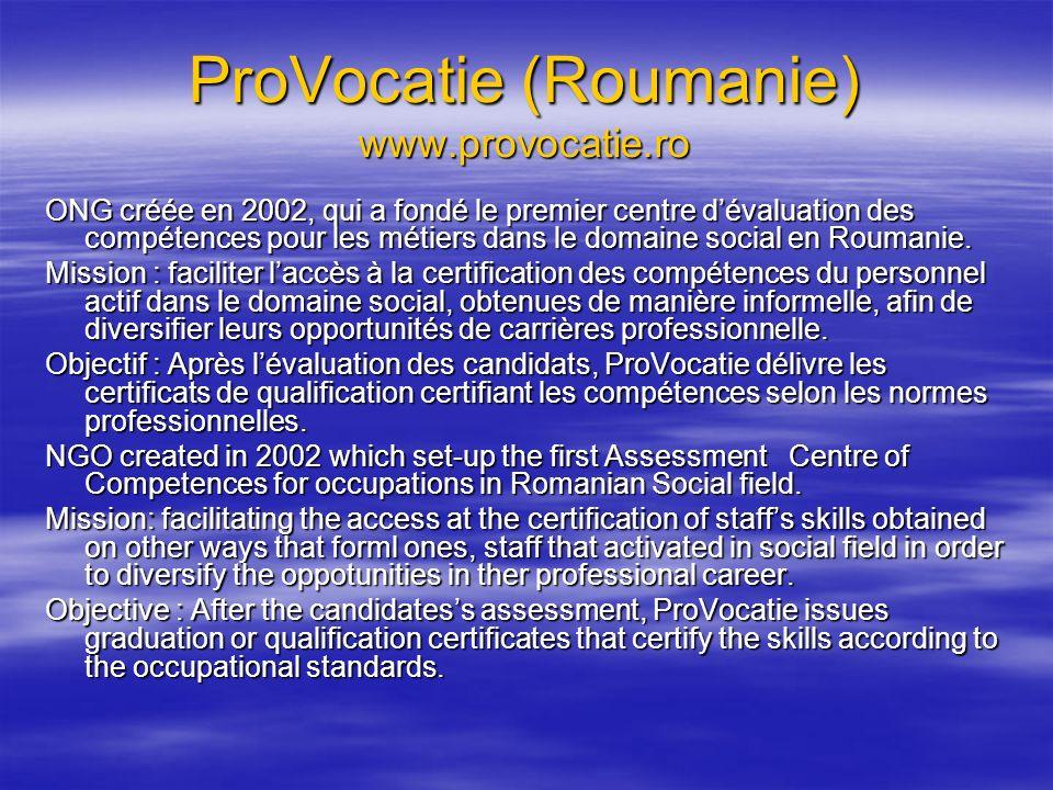ProVocatie (Roumanie) www.provocatie.ro