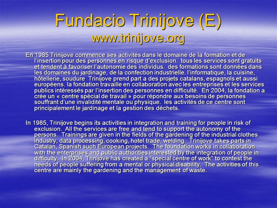 Fundacio Trinijove (E) www.trinijove.org