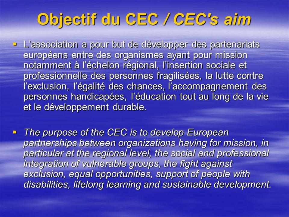 Objectif du CEC / CEC s aim