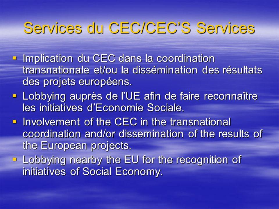 Services du CEC/CEC'S Services