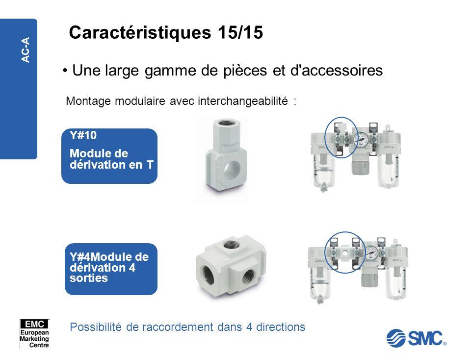 Caractéristiques 15/15 Une large gamme de pièces et d accessoires