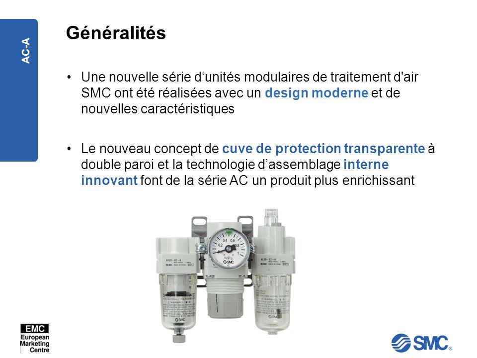 GénéralitésUne nouvelle série d'unités modulaires de traitement d air SMC ont été réalisées avec un design moderne et de nouvelles caractéristiques.