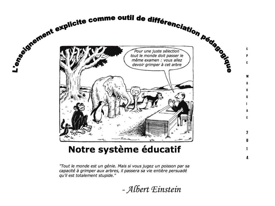 L enseignement explicite comme outil de différenciation pédagogique