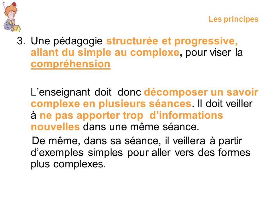 Les principes Une pédagogie structurée et progressive, allant du simple au complexe, pour viser la compréhension.
