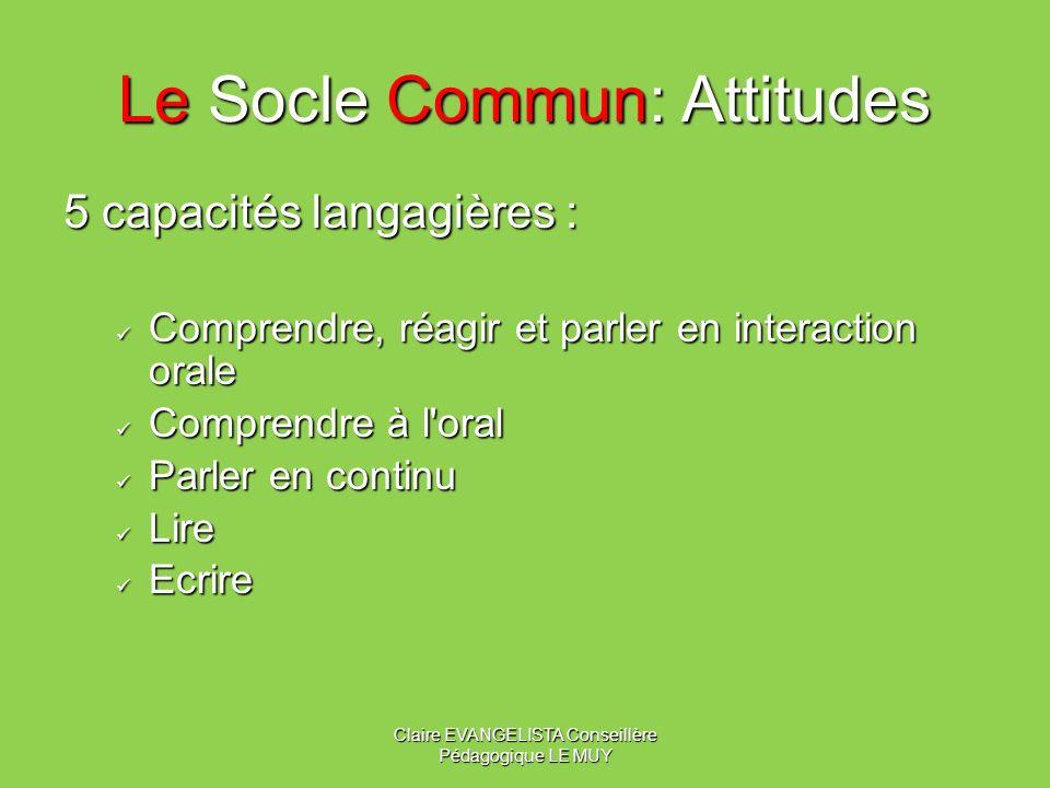 Le Socle Commun: Attitudes