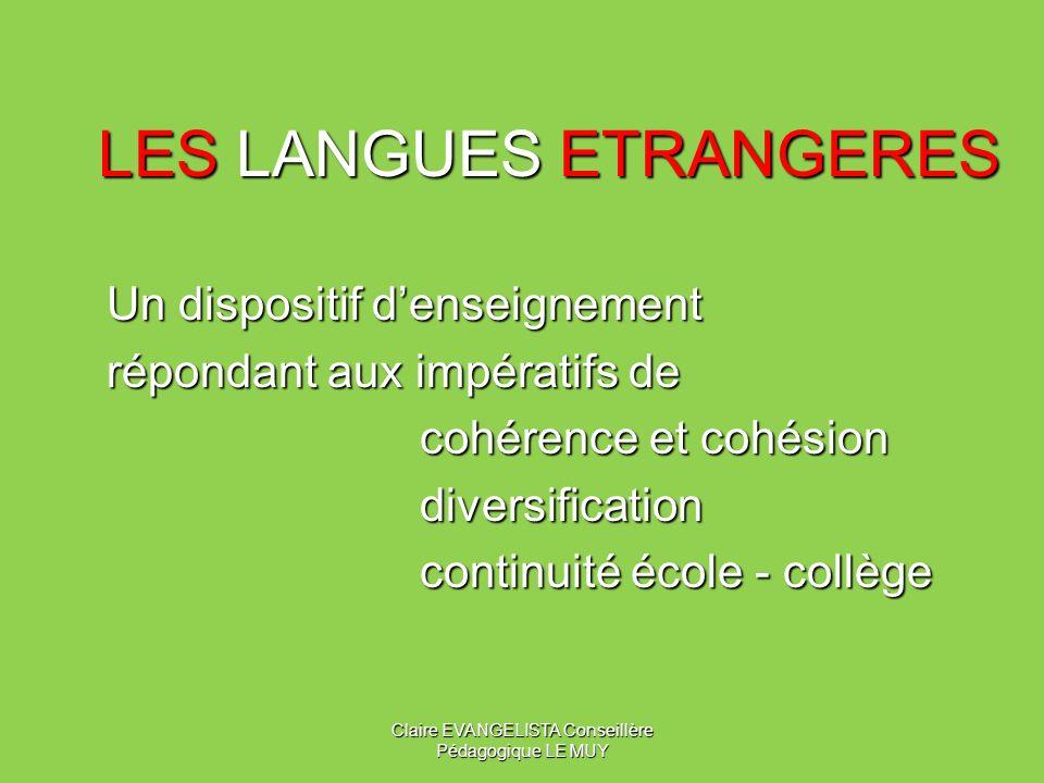 LES LANGUES ETRANGERES