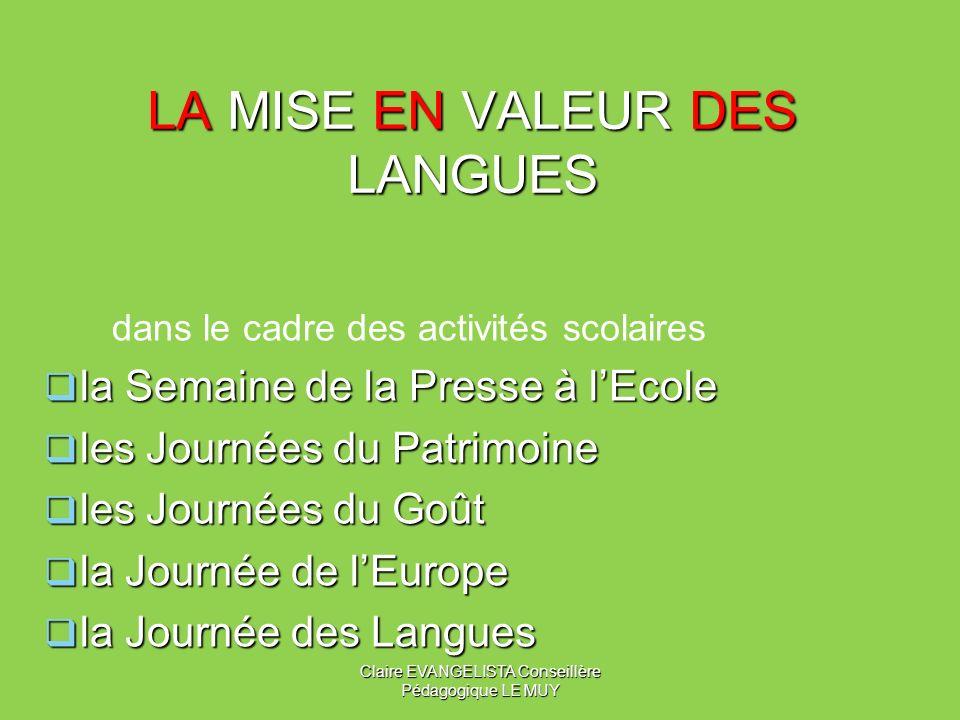 LA MISE EN VALEUR DES LANGUES