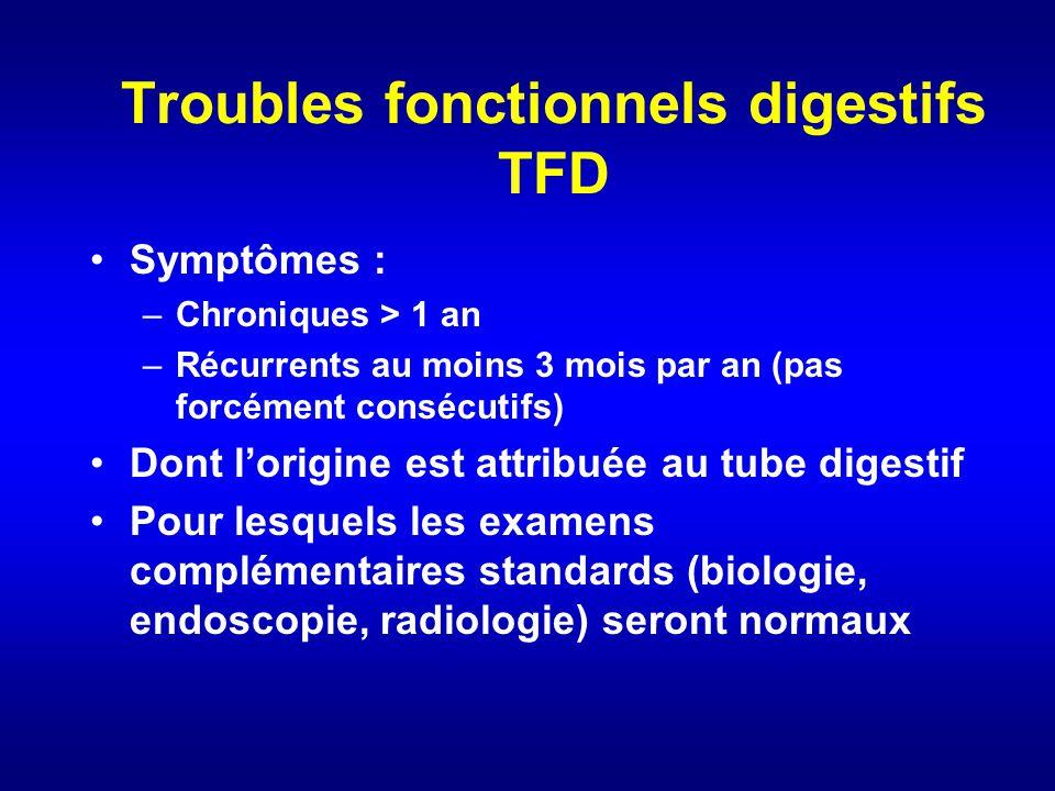 Troubles fonctionnels digestifs TFD