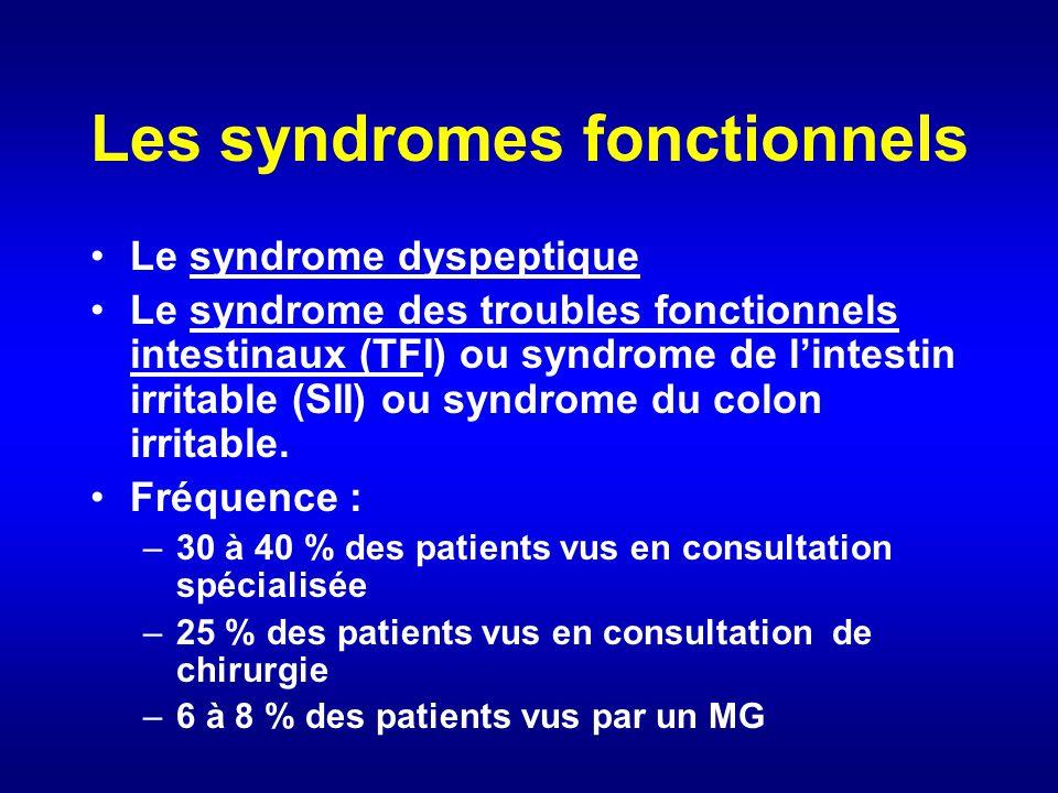 Les syndromes fonctionnels