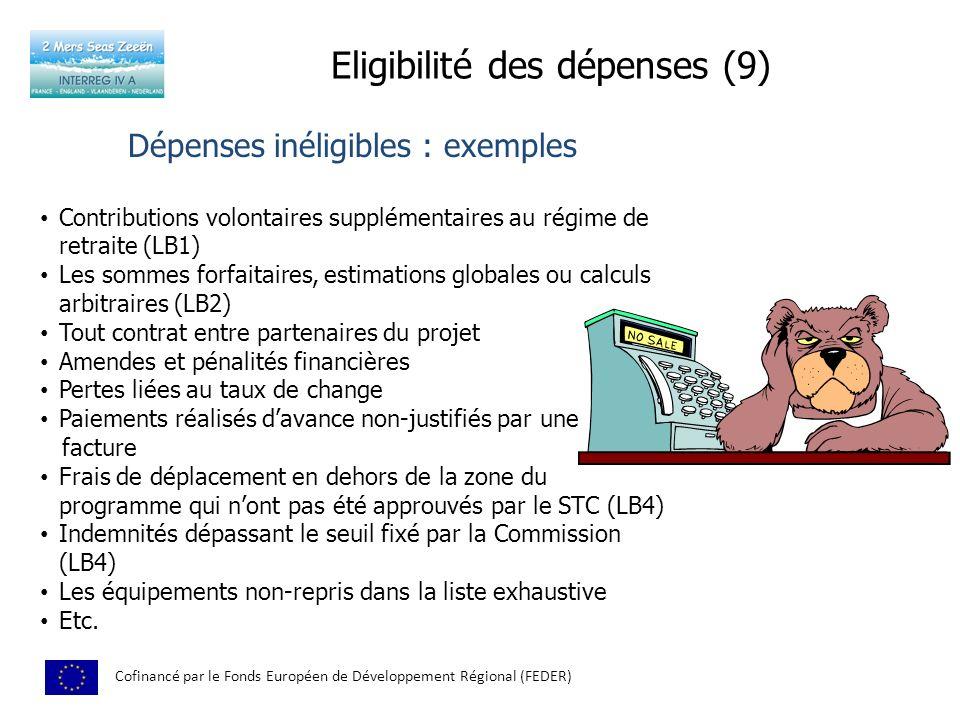 Eligibilité des dépenses (9)