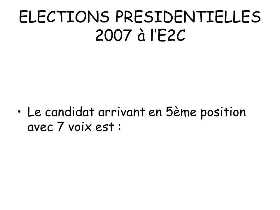 ELECTIONS PRESIDENTIELLES 2007 à l'E2C