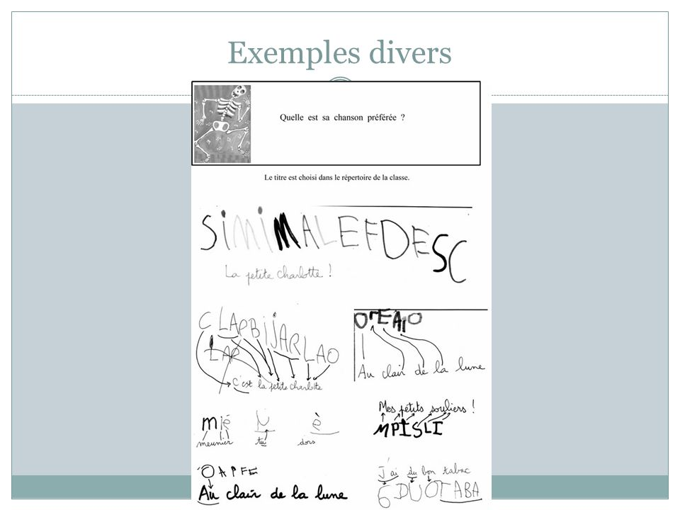 Exemples divers