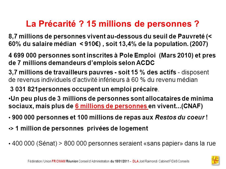 La Précarité 15 millions de personnes