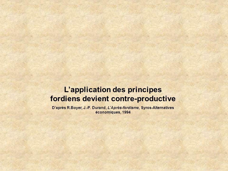 L'application des principes fordiens devient contre-productive