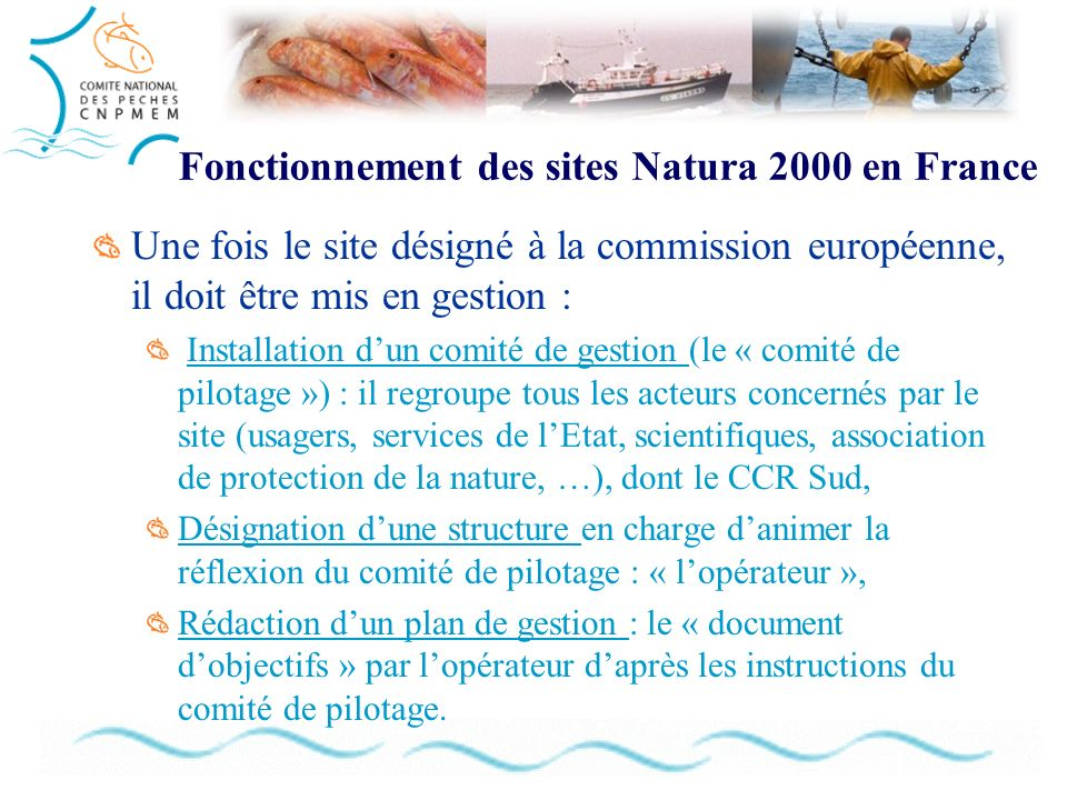 Fonctionnement des sites Natura 2000 en France