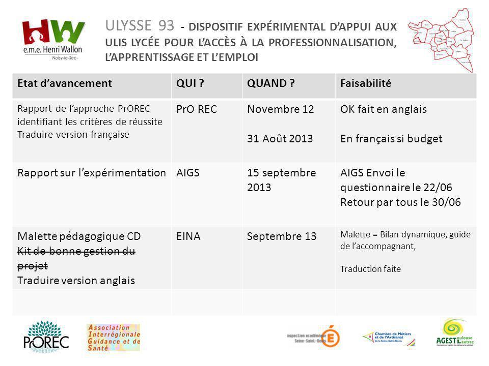 Rapport sur l'expérimentation AIGS 15 septembre 2013
