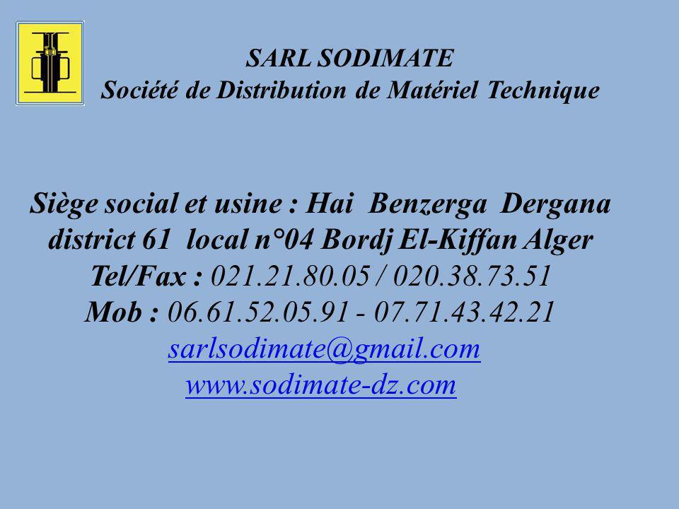 SARL SODIMATE Société de Distribution de Matériel Technique