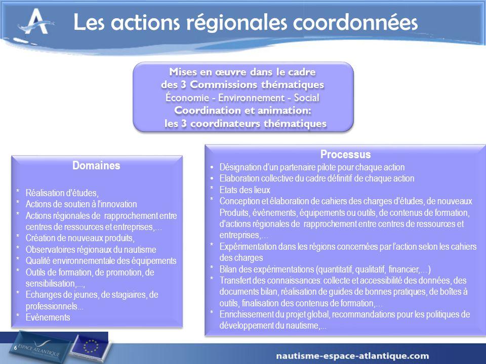 Les actions régionales coordonnées