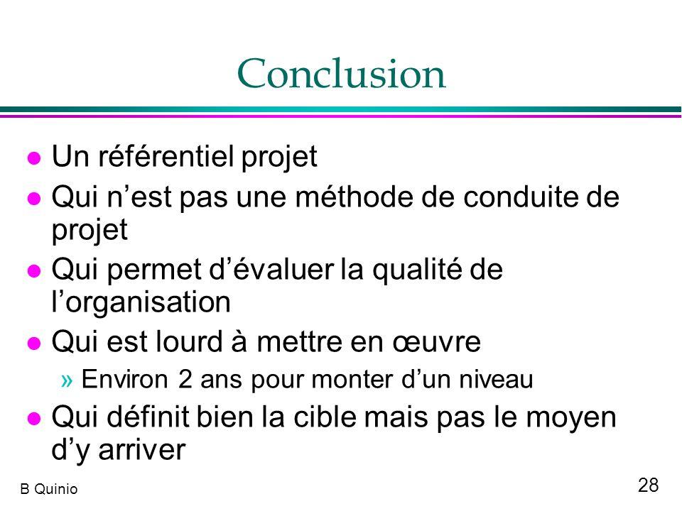 Conclusion Un référentiel projet