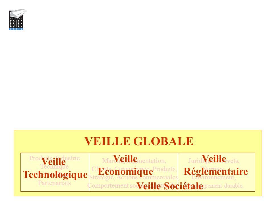 VEILLE GLOBALE Veille Economique Veille Réglementaire Veille