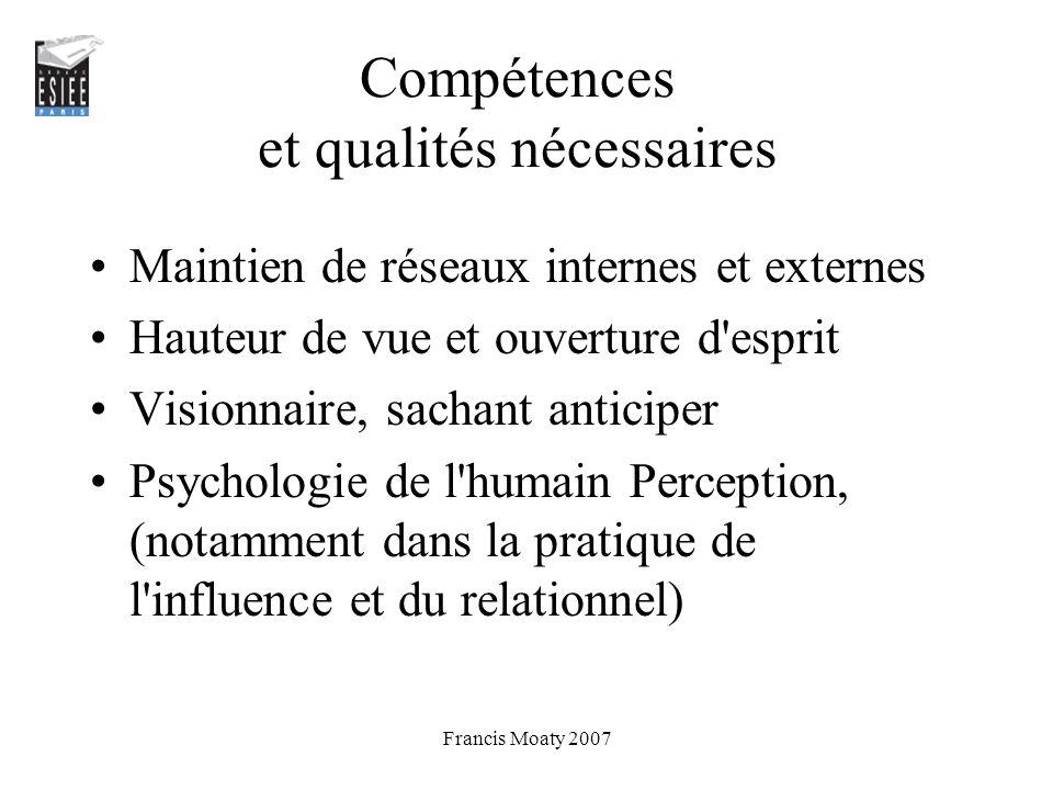 Compétences et qualités nécessaires